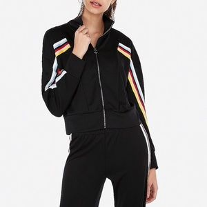 Express One Eleven Varsity Track Jacket